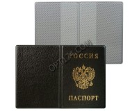Обложка для паспорта России ДПС 2203.В-107 вертикальная ПВХ, размер - 134х188 мм., черная (235900)