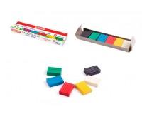 Пластилин STAFF 103677 количество цветов в наборе: 6 цветов масса: 60 г картонная упаковка