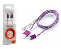 Кабель iPhone 5 Cablexpert длина 1м, армированный, мультиразъем USB, коробка, фиолетовый (CCB-ApUSBp1m)