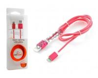 Кабель iPhone 5 Cablexpert длина 1м, армированный, мультиразъем USB, коробка, розовый (CCB-ApUSBr1m)