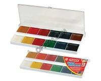 Краски акварельные Пифагор 190294 количество цветов: 12, медовые, пластиковая коробка, без кисти