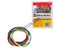 Резинки для денег BRAUBERG 440035 50 г, 90 шт. ± 5% натуральный каучук, цветные-ассорти
