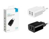 Зарядное устройство Deppa 11308 Ultra Duo 2100 mA 2хUSB, выходной ток: USB1-1A, USB2-2, 1A, черное, коробка