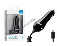 Автомобильное зарядное устройство Deppa 22106 Classic 12/24В 1хUSB, Выходной ток: USB-1A, индикация включения, витой дата-кабель miniUSB длина 1, 2м., блистер, черное