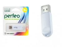 Флэш диск 16 GB USB 2.0 Perfeo C03 White с колпачком