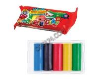 Пластилин KOH-I-NOOR 131713 количество цветов в наборе: 5 цветов масса: 100 г школьный, упаковка с европодвесом(103687)
