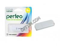 Флэш диск 16 GB USB 2.0 Perfeo C10 White с колпачком