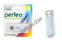 Флэш диск 32 GB USB 2.0 Perfeo C03 White с колпачком
