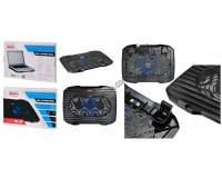 Аксессуары для ноутбуков теплоотводящая подставка Buro BU-LCP156-B114, 15, 6'', 357х265х33мм, 1 (14 см), 1xUSB, металлическая сетка, пластик, черный