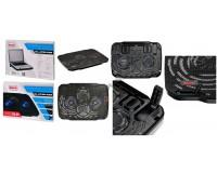 Аксессуары для ноутбуков теплоотводящая подставка Buro BU-LCP156-B208, 15, 6'', 355х260х21мм, 2 (по 8 см), 2xUSB, металлическая сетка, пластик, черный