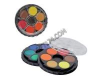 Краски акварельные KOH-I-NOOR 171503 количество цветов: 12, художественные , черная круглая пластиковая коробка, без кисти(191135)