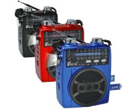 Приемник Fepe FP-1325U аккумуляторно-сетевой, AUX/USB/SD/microSD до 32Гб, питание: аккумулятор встроенный (зарядка 6V) / 220V шнур в комплекте / 3*R20 (в комплект не входят), размер: 12.5х7.5х6.5см, фонарик
