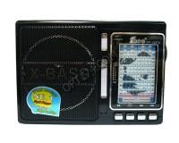 Приемник Fepe FP-1337U аккумуляторно-сетевой, AUX/USB/SD/microSD до 32Гб, питание: аккумулятор встроенный (зарядка 4.5V) / 220V шнур в комплекте / 2*R20 (в комплект не входят), размер: 18х12.5х6.5см, фонарик