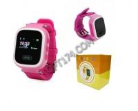 Часы Smart - GP-02 Розовые, детские с GPS, кнопка SOS, громкость, просмотр маршрута, датчик снятия с руки, антипотеря, электронный забор, розовые