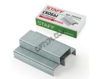 Скобы для степлера STAFF 220429 размер: №24/6, 1000 скоб в коробочке, цинковое покрытие