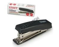Степлер STAFF 224625 размер скоб: №10 , величина скрепления - до 10 л, пластиковый корпус, металлический механизм, встроенный антистеплер черный