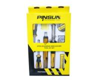 Паяльник Pinsun PS-630-30Вт 220В + набор 7 предметов( отсос, подставка, канифоль, отвертка крестовая, отвертка плоская, припой, ткань для очистки жала паяльника )