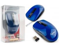 Мышь беспроводная Gembird MUSW-400-B USB Optical 800/1200/1600dpi синяя, 3 кнопки+кнопка-колесо бесшумная, блистер