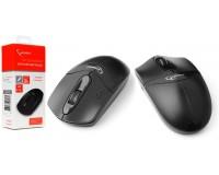 Мышь беспроводная Gembird MUSW-315 USB Optical (1000dpi) черная, 2 кнопки+кнопка-колесо коробка