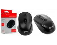 Мышь беспроводная Gembird MUSW-219 USB Optical (800-1600dpi) черная, 2 кнопки+кнопка-колесо, коробка