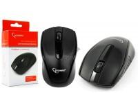 Мышь беспроводная Gembird MUSW-217 USB Optical (1000dpi) черная, 2 кнопки+колесо-кнопка коробка