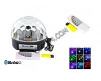 Световая установка Огонек MP-382 диско шар встроенные динамики 2*5W (USB, SD), Bluetooth, пульт ДУ, датчик звука