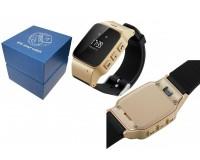 Часы Smart - GP-06 детские с GPS, кнопка SOS, датчик снятия с запястья, регулирование радиуса разрешенной зоны, удаленный родительский аудио мониторинг золото