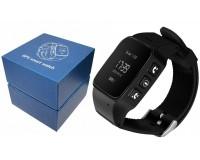 Часы Smart - GP-06 детские с GPS, кнопка SOS, датчик снятия с запястья, регулирование радиуса разрешенной зоны, удаленный родительский аудио мониторинг черный