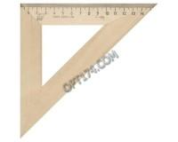 Треугольник - С16 шкала 16 см, угол 45, деревянный УЧД (210154)