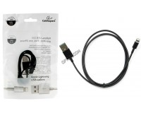 Кабель iPhone 5 Cablexpert длина 1м, пакет, черный (CC-USB-AP2MBP)
