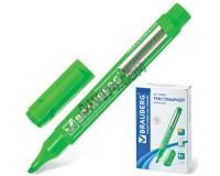 Маркер текстовый BRAUBERG 150483 скошенный наконечник 1-3 мм круглый корпус, водостойкие чернила, цвет чернил: зеленый