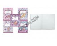 Тетрадь 12 листов HATBER T159101 Барби формат А5 обложка - мелованный картон, внутренний блок - офсет 60 г/м2, блестки, линия, красные поля ( 103519)