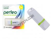 Флэш диск 8 GB USB 2.0 Perfeo C11 White с колпачком