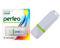 Флэш диск 16 GB USB 2.0 Perfeo C11 White с колпачком