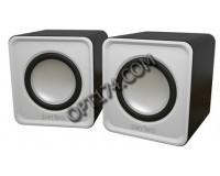 Акустические системы 2.0 Perfeo PF-5129/ PF-128-W WAVE 2х3Вт корпус пластик, питание от USB, белый