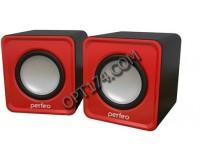 Акустические системы 2.0 Perfeo PF-5128/PF-128-R