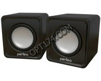 Акустические системы 2.0 Perfeo PF-5127/PF-128-B WAVE 2х3Вт корпус пластик, питание от USB, черный