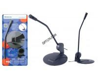 Микрофон Defender MIC-117 серый, кабель 1, 8 м., черный (64117)