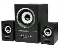 Акустические системы 2.1 Defender V10 5+2х3Вт FM/MP3/USB питание от USB, деревянный корпус сабвуфера, черный (65528)