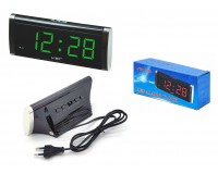 Часы сетевые VST 730-4 яркие зелёные цифры