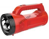 Фонарь-прожектор Спутник AFP812 1х2Вт+12х2, 4Вт светодиодов, аккумулятор 1600mAh 4V красный/чёрный