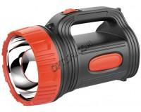 Фонарь-прожектор Спутник AFP823-3W 1х3Вт светодиод, аккумулятор 2000mAh 4V красный/чёрный