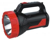 Фонарь-прожектор Спутник AFP829-10W 1х10Вт+26х5, 2Вт светодиодов, аккумулятор 3500mAh 4V красный/чёрный