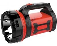 Фонарь-прожектор Спутник AFP870-5W 1х5Вт светодиод, аккумулятор 2500mAh 4V красный/чёрный