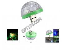 Световая установка Огонек LD-129 USB, цвет подсветки: RGB , мощность динамика: 3Вт, датчик звука, размеры: 40х20 мм