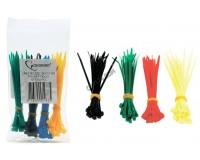 Хомут нейлоновый Gembird 2.5x100 мм упаковка 100 шт., набор 4 цвета по 25 шт. (NYT-100x2.5C)