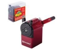 Точилка BRAUBERG 222517 механическая, металлический механизм, чёрный/бордовый