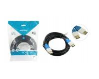 Кабель HDMI-HDMI SmartBuy 10м. GOLD ver.1.4b, 2 фильтра, пакет, черный (K302)