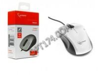 Мышь Gembird MOP-100-S USB Optical (1000dpi) серебристая, 2 кнопоки+колесо-кнопка коробка
