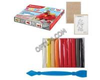 Пластилин BRAUBERG 660309 количество цветов в наборе: 5 цветов х 2 масса: 180 г стек (пластиковый нож), основа для лепки транспортного средства, картонная упаковка